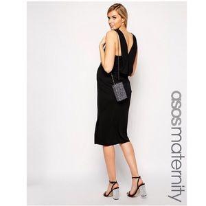ASOS Maternity Midi Dress with Origami Fold Back
